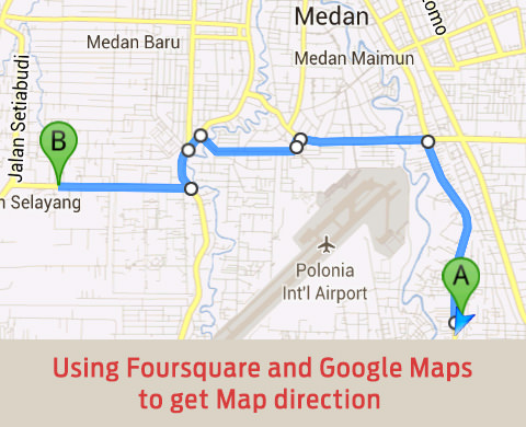 using foursquare and google maps cover