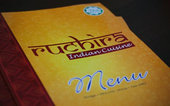 ruchira menu book