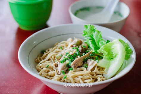 mie ayam acu close up