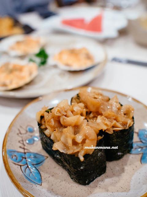 chuka hotate gunkan sushi idr 18 The all new Renjiro Sushi, Multatuli