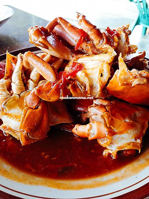 kepiting masak pedas RM Ingah, Pantai Cermin, Perbaungan