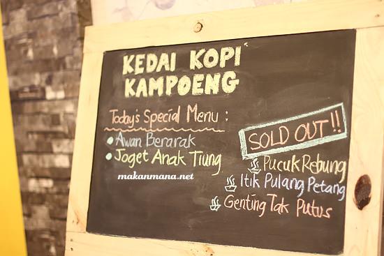 menu kedai kopi kampoeng