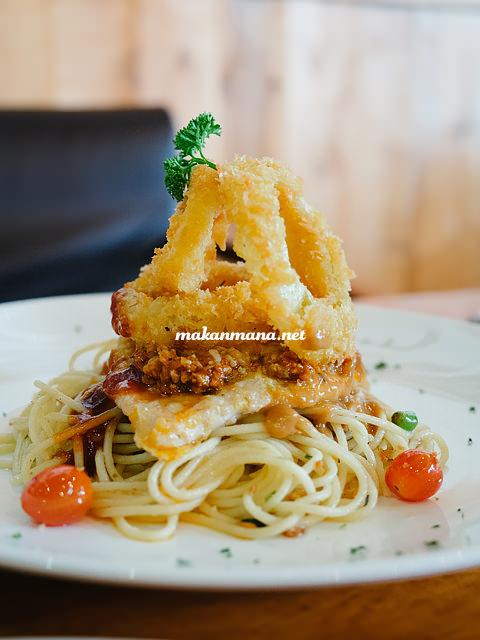 spagheti chicken picatta Coffee knowledge with Ronald Prasanto, Pilastro