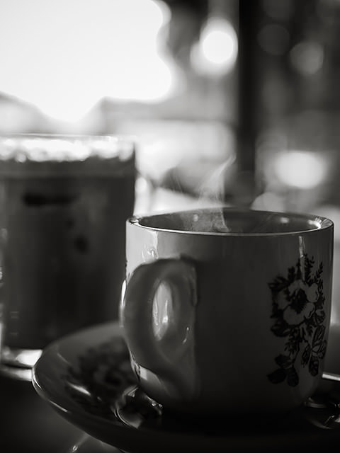 kopi susu panas