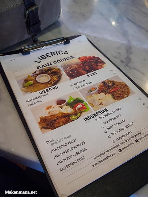 menu liberica