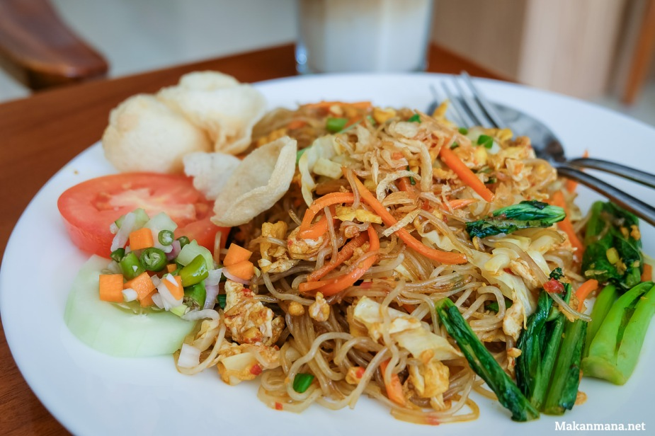 Close up bihun goreng